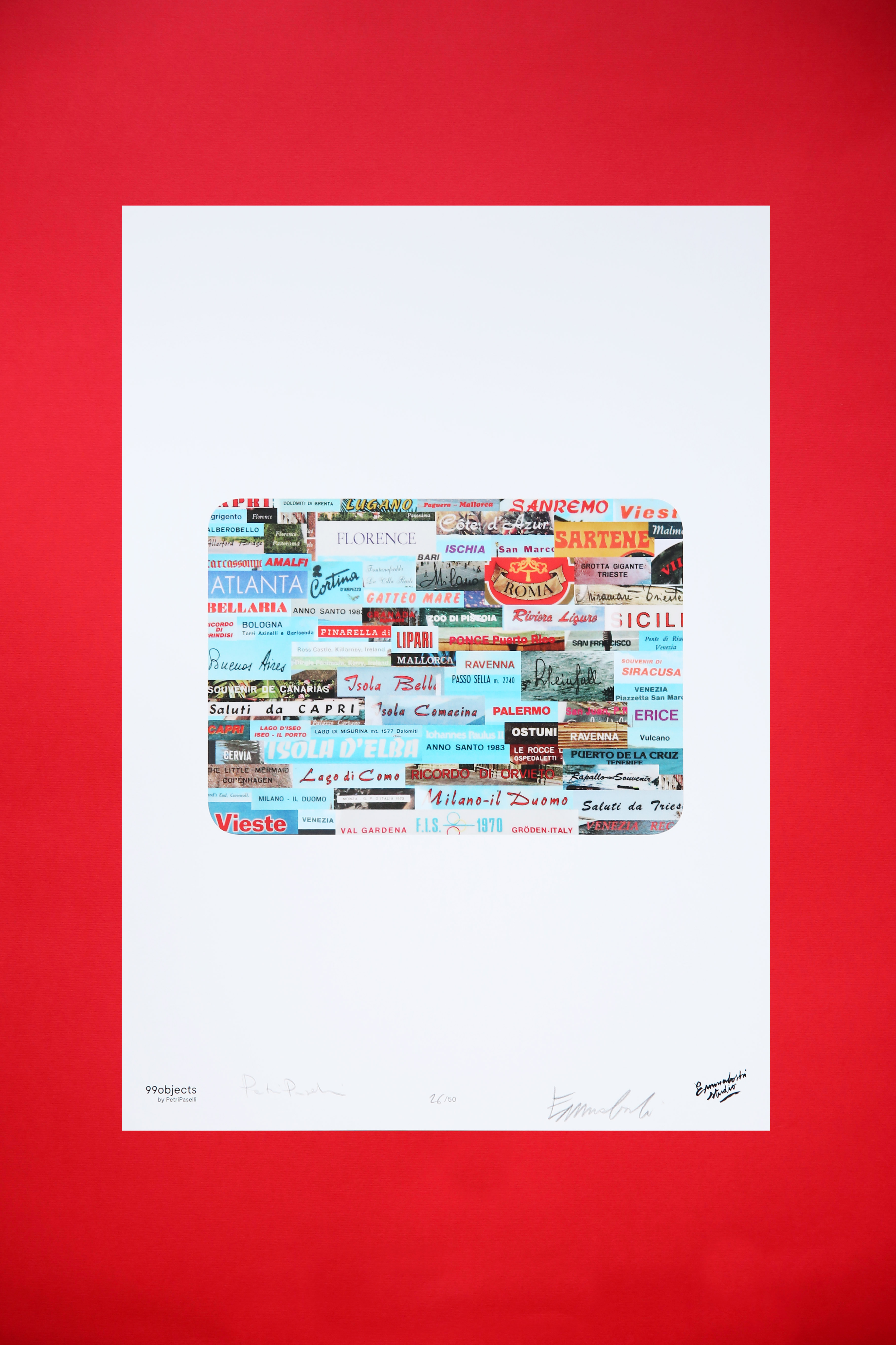 Poster Souvenir Ashtray by Emmaboshi