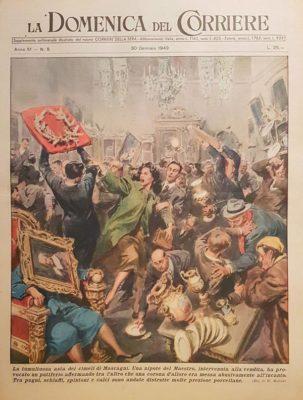 Copertina della Domenica del Corriere